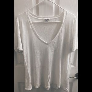 Splendid- Deep V Tee- White